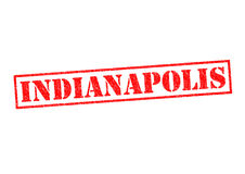 INDIANAPOLIS. Rubber Stamp over a white background Stock Photography