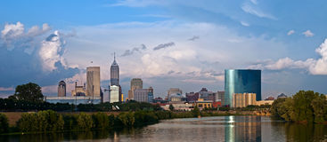 Indianapolis-Skyline. Stockbilder