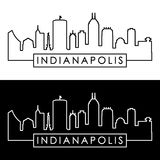 Indianapolis skyline. Linear style. Royalty Free Stock Photography