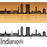 Indianapolis skyline in orange Royalty Free Stock Image
