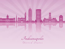 Indianapolis skyline in purple radiant orchid Royalty Free Stock Photos