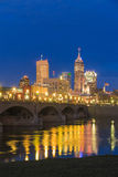 Indianapolis skyline and the White River Royalty Free Stock Photography