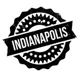 Indianapolis stamp rubber grunge Royalty Free Stock Photo