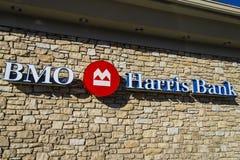 Indianapolis - vers en février 2017 : BMO Harris Bank BMO Harris est l'une des plus grandes banques dans le Midwest IV Photos libres de droits