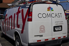 Indianapolis - vers en mars 2016 : Comcast entretiennent le véhicule III Image stock