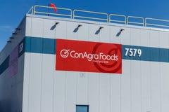 Indianapolis - vers en mars 2018 : ConAgra stigmatise l'usine ConAgra fait plus de 60 marques de la nourriture I Photos libres de droits