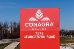 Indianapolis - vers en mars 2018 : ConAgra stigmatise l'usine ConAgra fait plus de 60 marques de la nourriture II Photo libre de droits