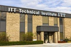 Indianapolis - vers en novembre 2016 : Emplacement éducatif de services d'ITT L'institut technique d'ITT a fermé tous ses campus  Image stock