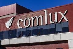 Indianapolis - vers en octobre 2016 : Sièges sociaux de Comlux Amérique Comlux est une ligne aérienne II de charte d'entreprise Image stock
