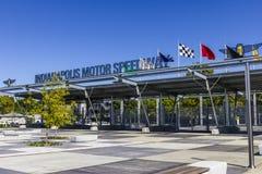 Indianapolis - vers en septembre 2016 : Entrée VI de la porte 1 d'Indianapolis Motor Speedway Images libres de droits