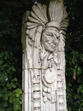 Indiandiagramet sned in i stenen Royaltyfri Fotografi