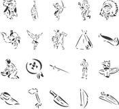 Indianen vector illustratie