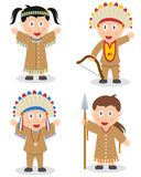Indianen lurar samlingen Arkivbild