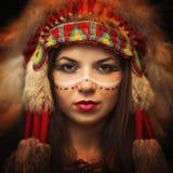 Indiangirl jaskrawa skóra Zdjęcie Royalty Free