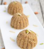 IndianHalwa. India Halwa(pudding) made from sama or barnyard millet grains,butter and Sugar,eaten during Hindu festival of Navratri in October Royalty Free Stock Photo