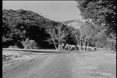 Indiani a cavallo sul percorso di guerra archivi video