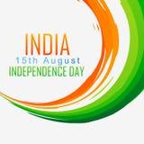 Indianin flaga fala Zdjęcie Stock