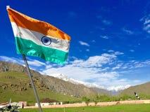 Indianin flaga - Kargil, Kaszmir, India Zdjęcie Royalty Free
