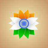 Indianin flaga koloru kwiat Ilustracja Wektor