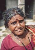 Indianin starzejąca się kobieta Zdjęcia Stock