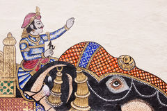 Indianin sztuki ścienny szczegół Obrazy Royalty Free