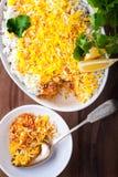 Indianina Biryani potrawka z garnelą zdjęcie royalty free