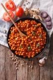 Indianina Chana masala z składnikami Pionowo odgórny widok Obraz Stock