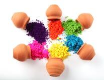 Indianina Holi festiwalu colours Zdjęcie Stock