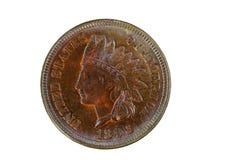 Indianina Kierowniczy cent w nowym stanu warunku odizolowywającym na bielu Fotografia Stock