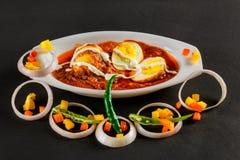 Indianina Non-Veg jedzenie z jajkami & grulami zdjęcie royalty free