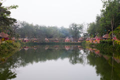 Indianina obóz Obraz Royalty Free