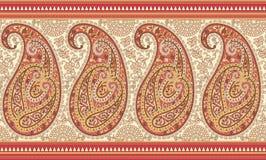 Indianina Paisley granica royalty ilustracja