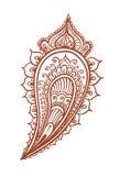 Indianina piórko - dekoracyjny wschodni henna projekt Mehendi etniczny wektor royalty ilustracja