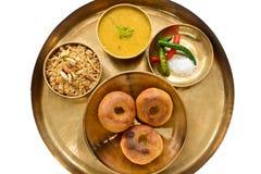 Indianina Rajasthani jedzenie Zdjęcia Royalty Free