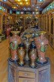 Indianina sklep z ceramicznymi przedmiotami obrazy stock