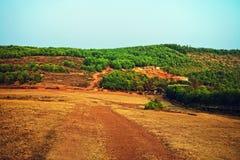 Indianina stosunkowo mieszkania krajobraz zdjęcia royalty free