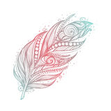 Indianindieramulett Stam- fjädrar för vektor Arkivbilder