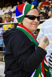 indiankrigaren buntade kall fotboll för ventilator sa till upp Arkivfoton