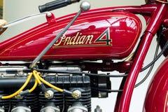 Indiano americano quatro da motocicleta do ano 1931 Fotografia de Stock