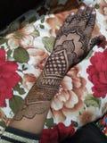 Indiano bonito nupcial de Mehndi imagens de stock