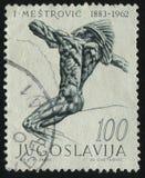 Indiano della scultura a cavallo da Ivan Mestrovic Fotografie Stock