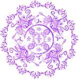 Indiano desenhado à mão, árabe, mandala do leste ilustração stock