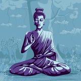 Indiano Dio Buddha nella meditazione illustrazione vettoriale