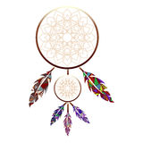 Indiano Dreamcatcher illustrazione vettoriale