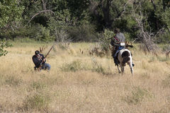 Indiano e soldado Doing Battle Foto de Stock