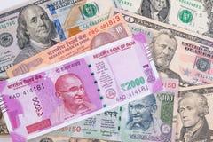 Indiano ed affare di commercio di finanza di economia di U.S.A. Fotografia Stock
