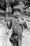 Indiano indigeno Awa Guaja del Brasile fotografia stock