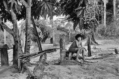 Indiano indigeno Awa Guaja del Brasile fotografia stock libera da diritti
