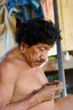 Indiano invecchiato Fotografia Stock