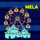 Indiano Mela che rappresenta l'India variopinta illustrazione vettoriale